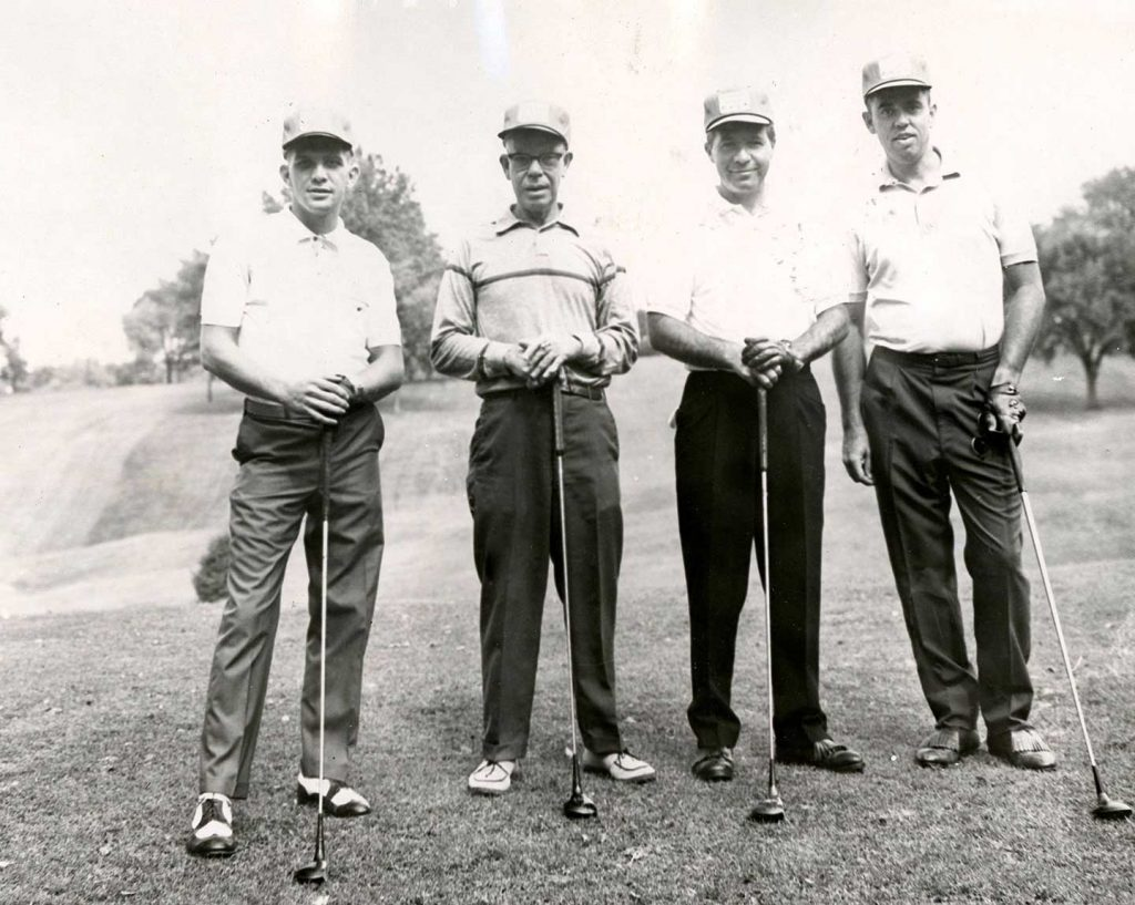 Golfers Morris Holden (second from Left) and Sidney Holden (4th from Left) circa 1960s