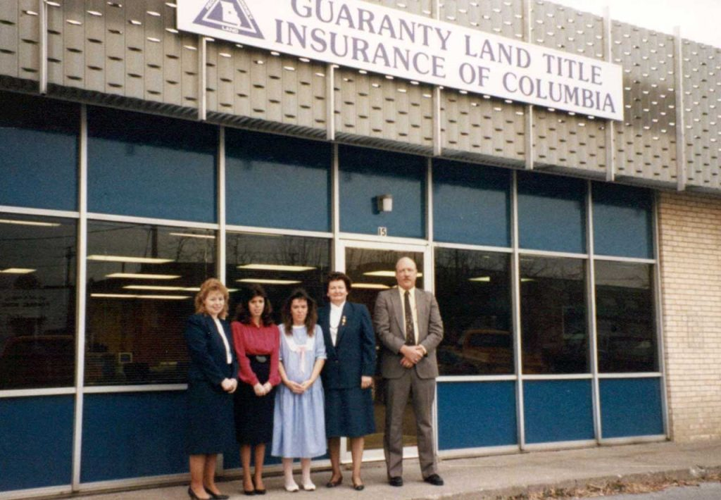 Opening Day, Guaranty Land Title Insurance Co of Columbia, Nov 12, 1988