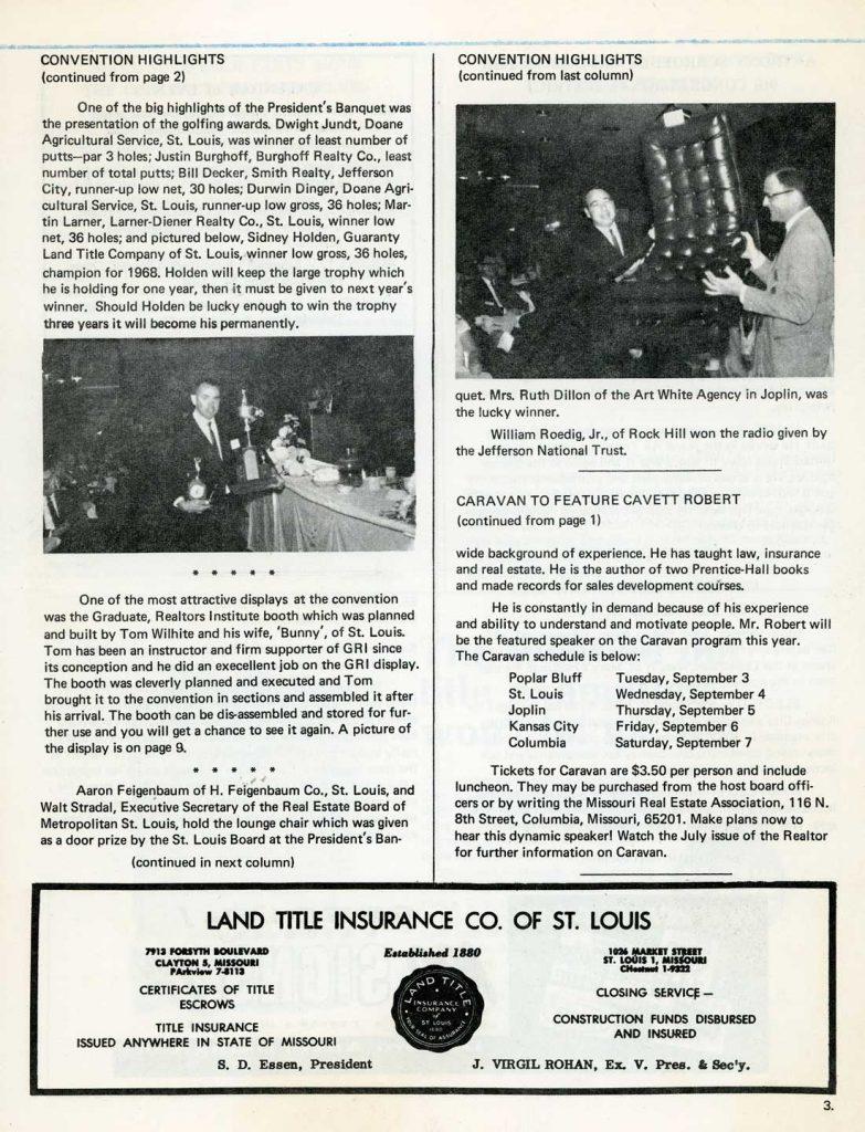 June 1968 The Missouri Realtor, Vol. XIV. No. 6
