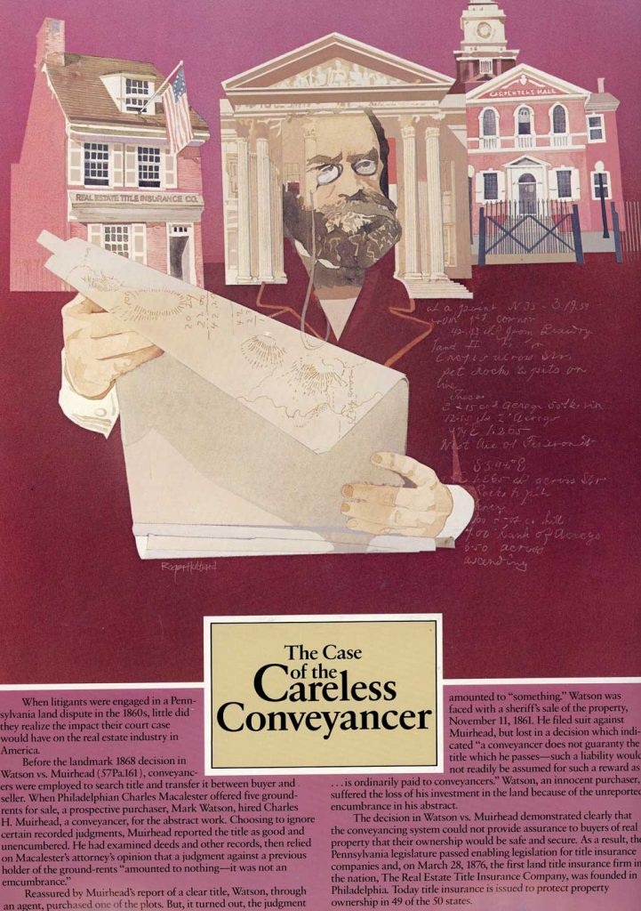 The Case of the Careless Conveyancer - historical land title cases wall hanging