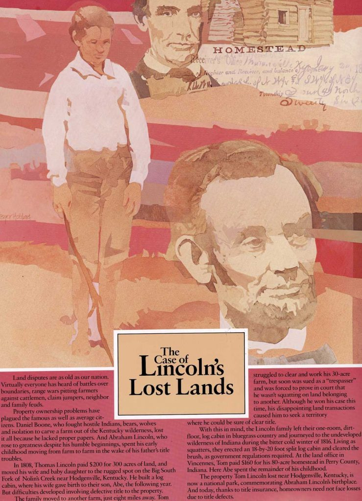 The Case of the Lincoln's lost lands- historical land title cases wall hanging