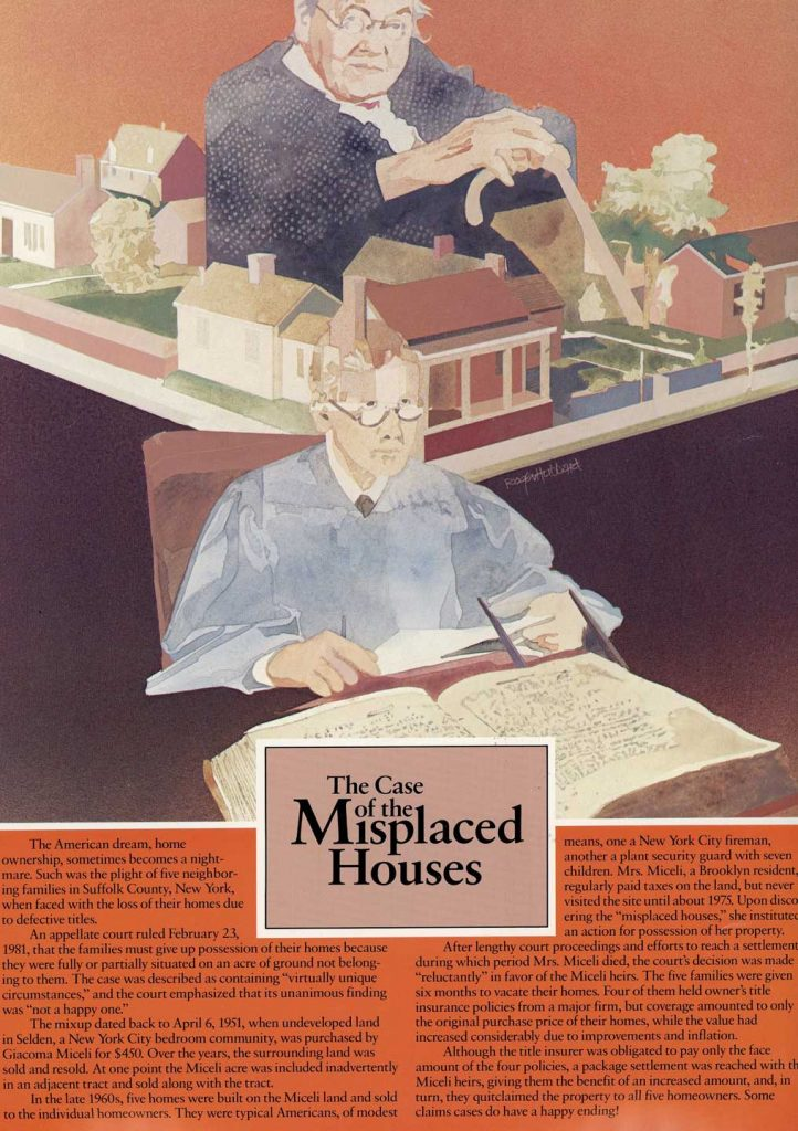 The Case of the Misplaced Houses - historical land title cases