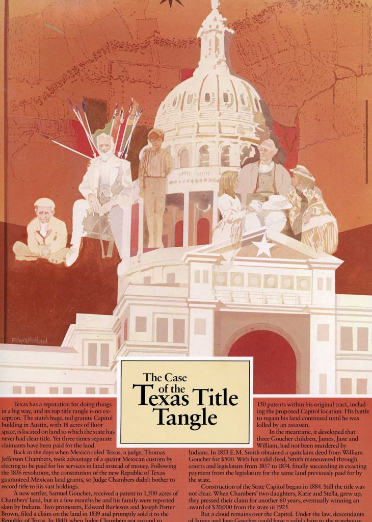 The Case of the Texas Title Tangle - historical land title cases wall hanging